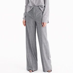 J. Crew houndstooth wide leg wool trouser pants